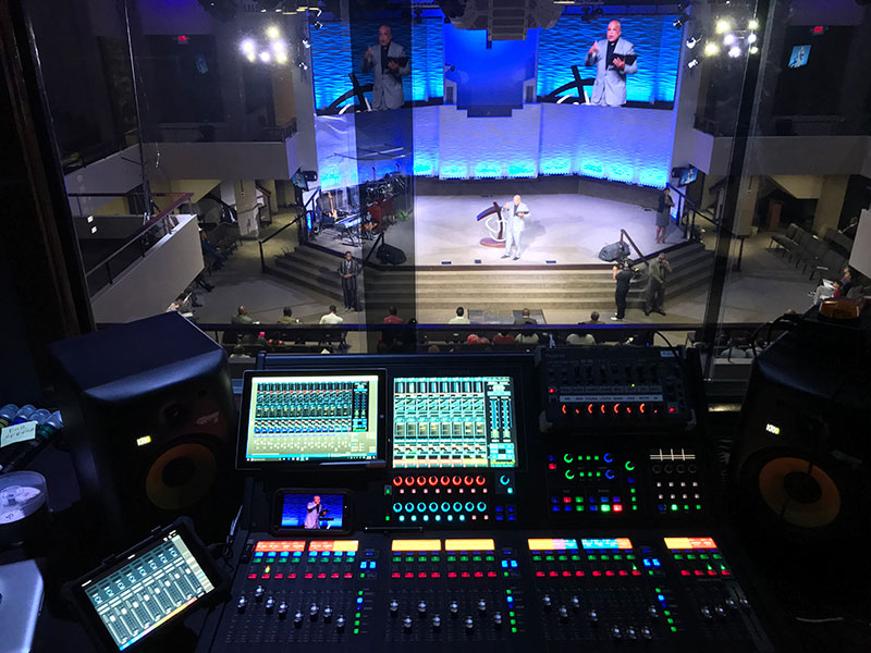 Roland M-5000 OHRCA Live Mixing Console at Good Hope Missionary Baptist Church