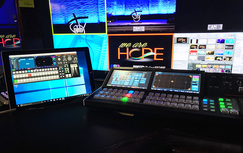 Roland V-1200HD at Good Hope Missionary Baptist Church in Houston