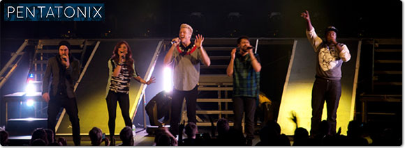 Pentatonix vocal sensations and winners of Season 3 of NBC's The Sing-Off