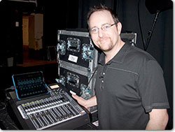 Trist Curless is the Audio Engineer for Pentatonix by his Roland M-200i V-Mixer