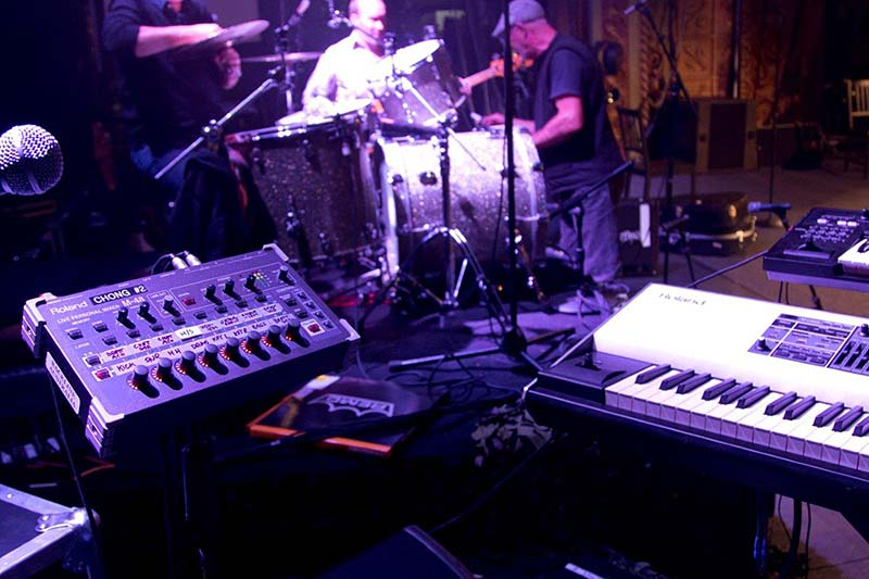 The Roland M-48 Live Personal Mixing System live on stage at the Rolling Thunder Vietnam show.