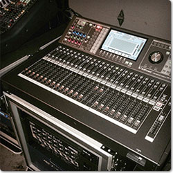 Roland M-480 V-Mixer off stage at the 2014 Sing-Off Tour