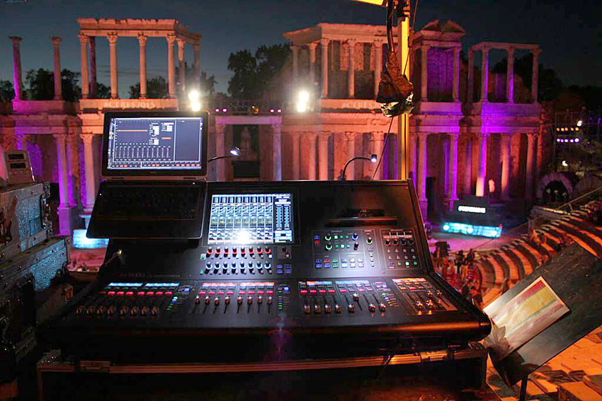 Roland M-5000 Console from the FOH at the CERES Award Ceremony.