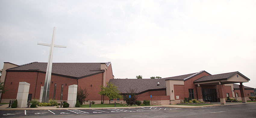 The exterior of Faith Lutheran Church in the Oakville area of St. Louis, MO, which recently acquired a Roland M-5000 OHRCA Live Mixing Console. Photo courtesy of Faith Lutheran Church. © 2015.