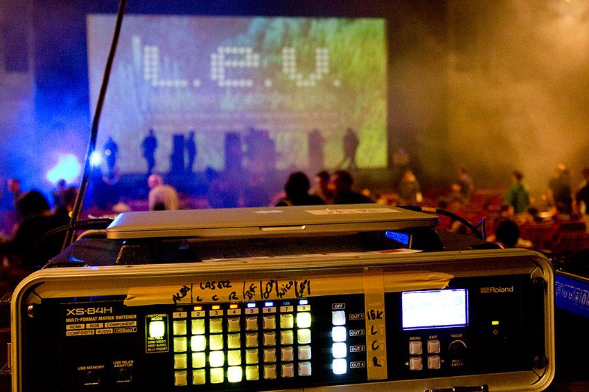 Roland XS-84H matrix switcher at the L.E.V Festival in Gijón, Spain