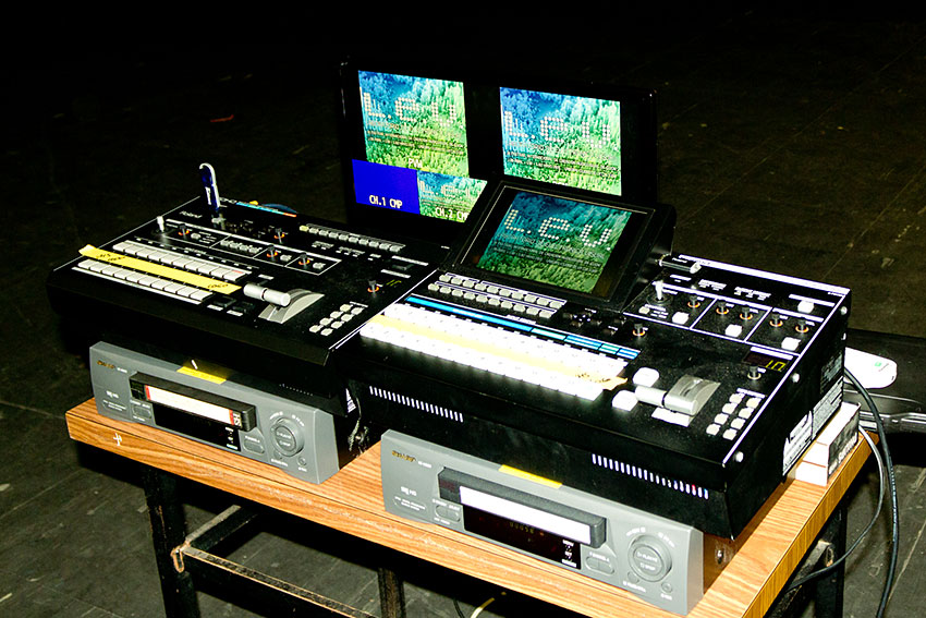 Roland V-800HD and V-1600HD HD video mixers at the L.E.V Festival in Gijón, Spain