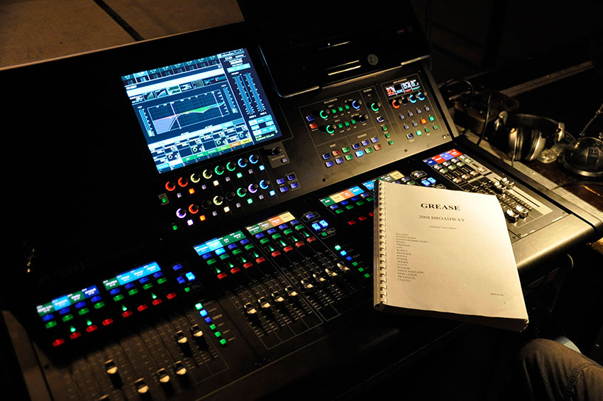 Roland M 5000 Live Mixing Console At The Front Of House Position