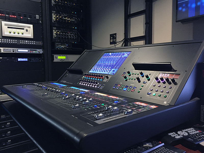 The Roland M-5000 OHRCA Live Mixing Console, installed at Dallas City Hall to handle all of the municipality's audio and video requirements.