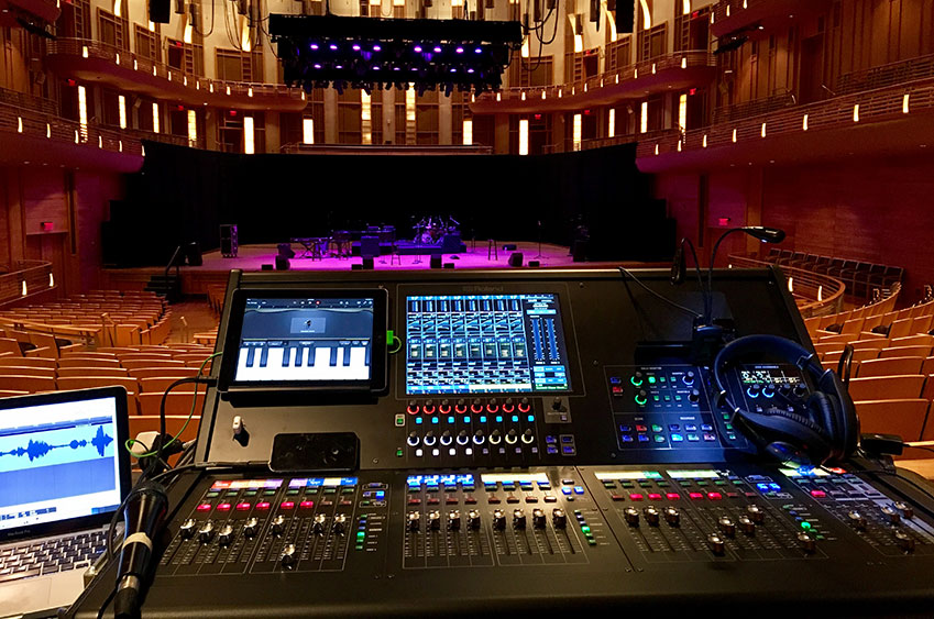 Take 6 and The Manhattan Transfer FOH with Roland M-5000