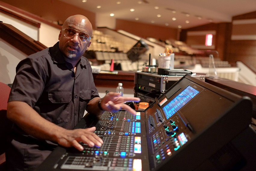 Eric Jones, the Chief Audio Engineer at Mt. Zion Baptist Church
