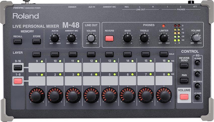 roland pro a v m 48 live personal mixer