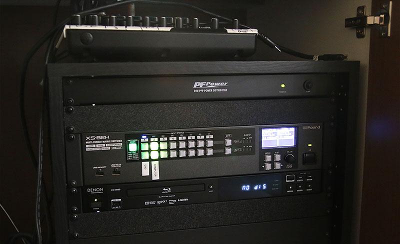 Roland XS-82H AV switcher at Life-Center Church