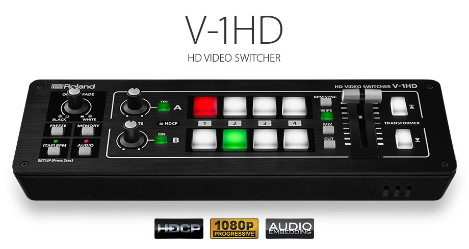 Roland Pro A V Stand Alone Articles V 1hd Hd Video Switcher