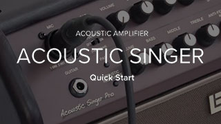 Acoustic Singer Quick Start