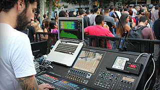 Roland M-5000 and M-5000C Live Digital Consoles take to the streets in Barcelona.