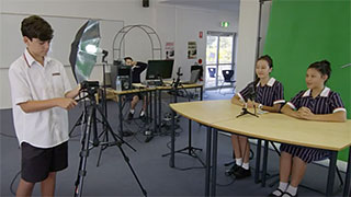Green screen fun with VR-3EX at Chatswood High School