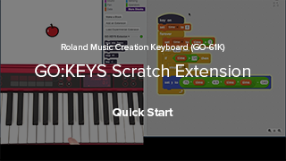 GO:KEYS ScratchX Extension