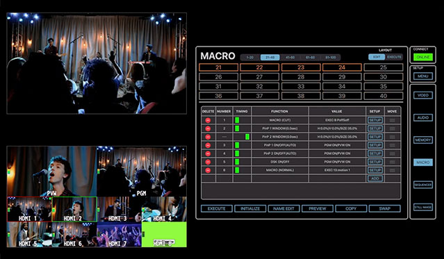 V-8HD Version 2.0: Using Macros