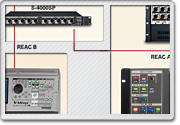 Standard M-400 V-Mixing System with M-380 Monitor/Broadcast Position