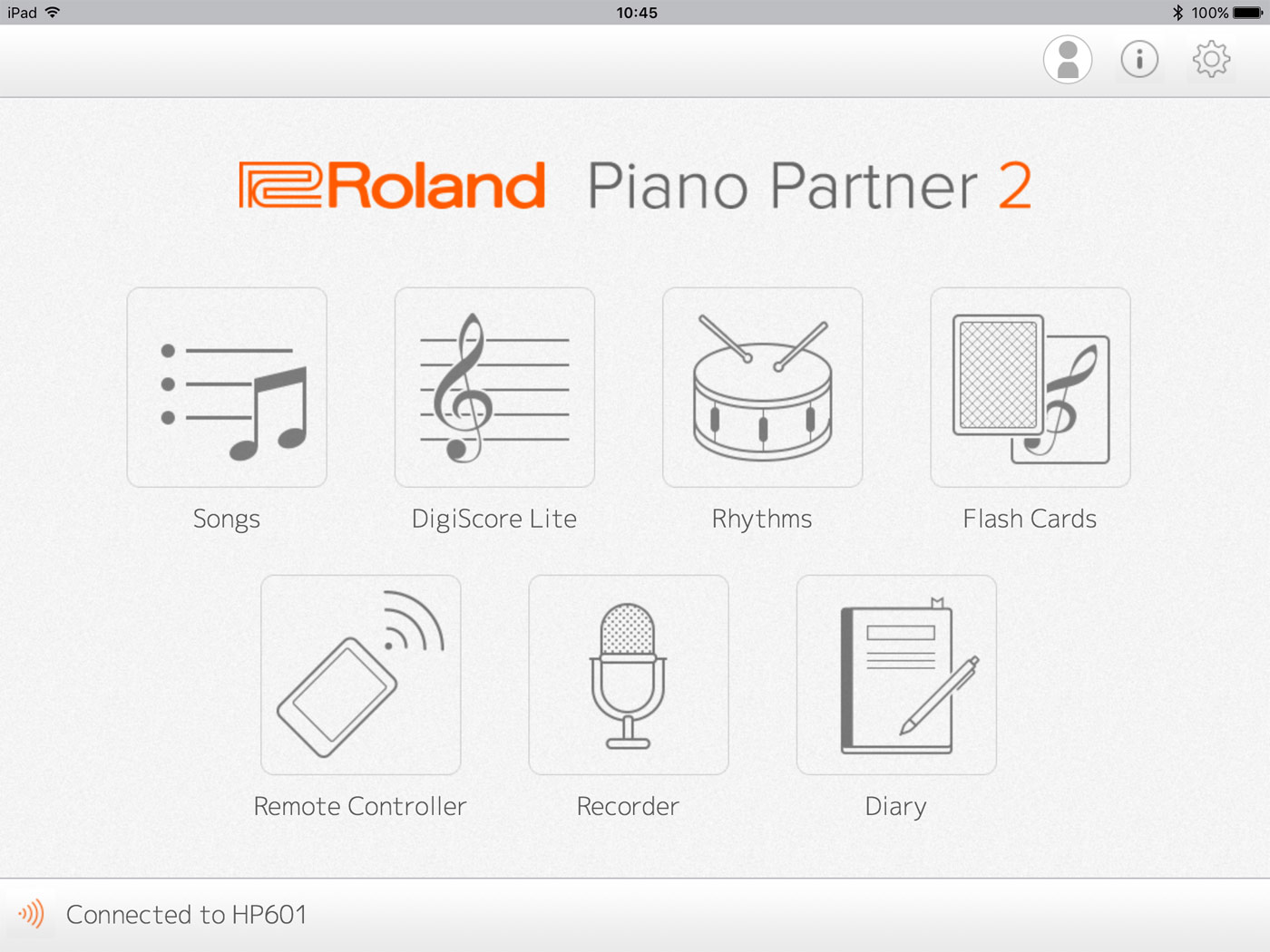 Roland Piano Partner 2 Version 20 Ios Android App Usb Cable Wiring Diagram Together With Of Ipad Back Smoothly Due To The Way That Device Manages Bluetooth Communication If This Occurs Connect Via A