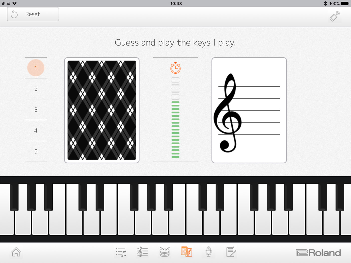 graphic regarding Piano Flash Cards Printable called Roland - Piano Lover 2 Variation 2.0 iOS/Android Application