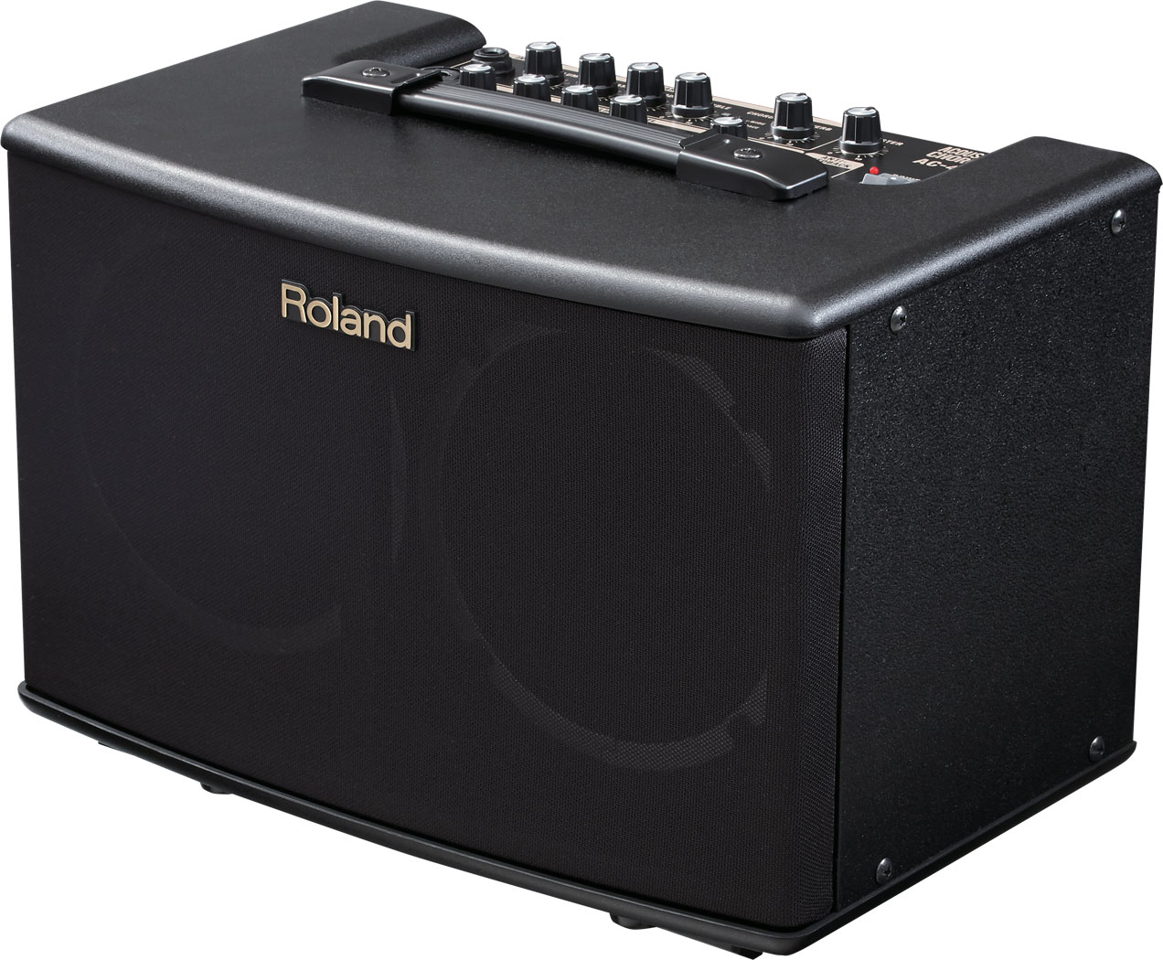 Roland Ac 40 Acoustic Chorus Guitar Amplifier Pickup Microphone Wire Speaker For Black