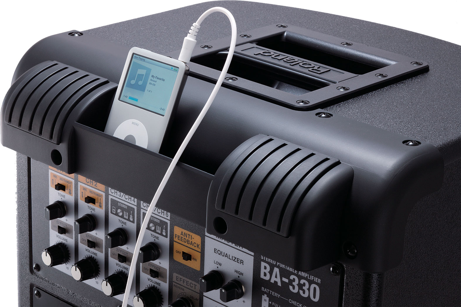 roland ba 330 stereo portable amplifier rh roland com Roland BA-330 Bag Roland BA-330 Bag