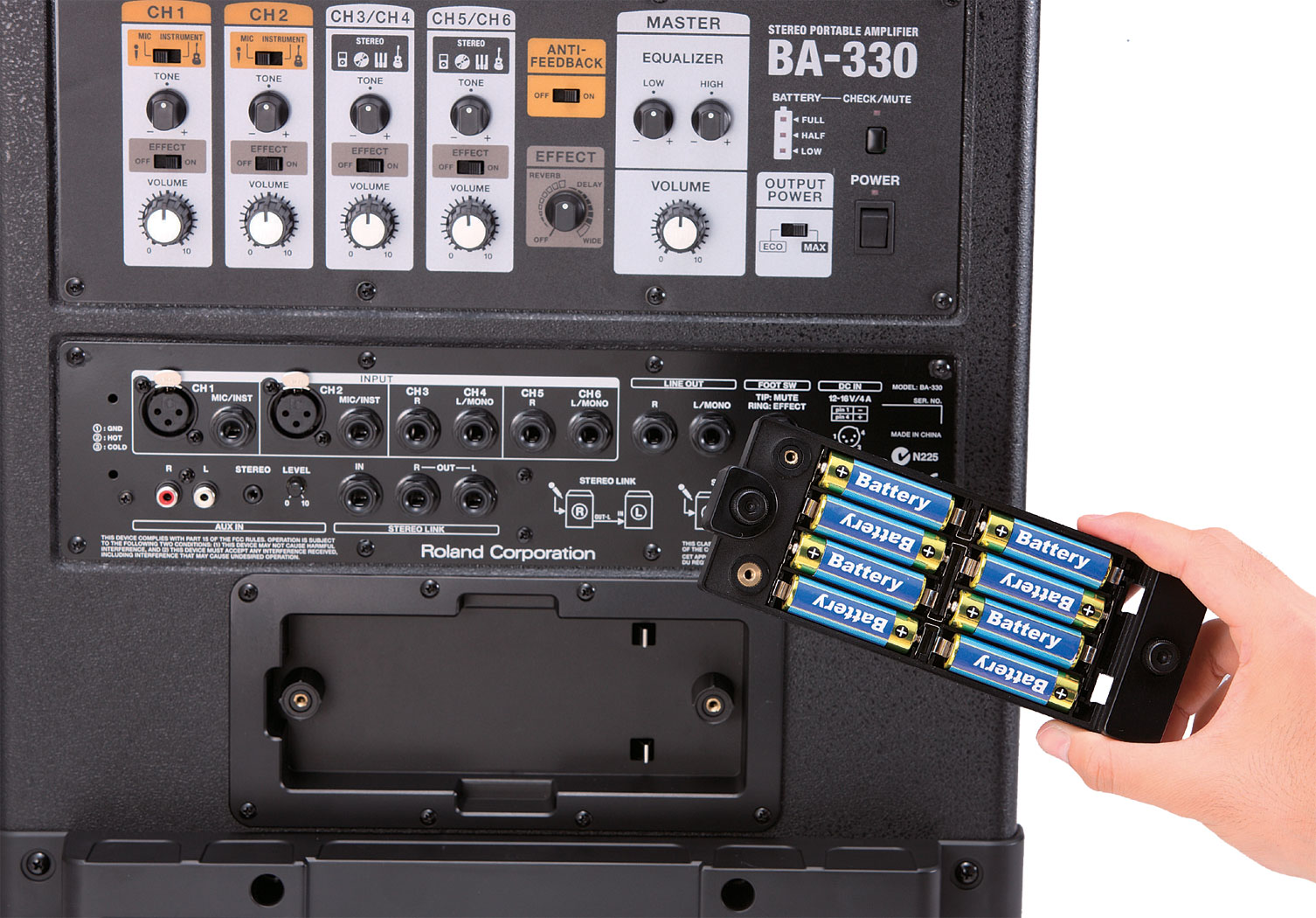roland ba 330 stereo portable amplifier rh roland com Used Roland BA-330 Roland BA-330 Watts