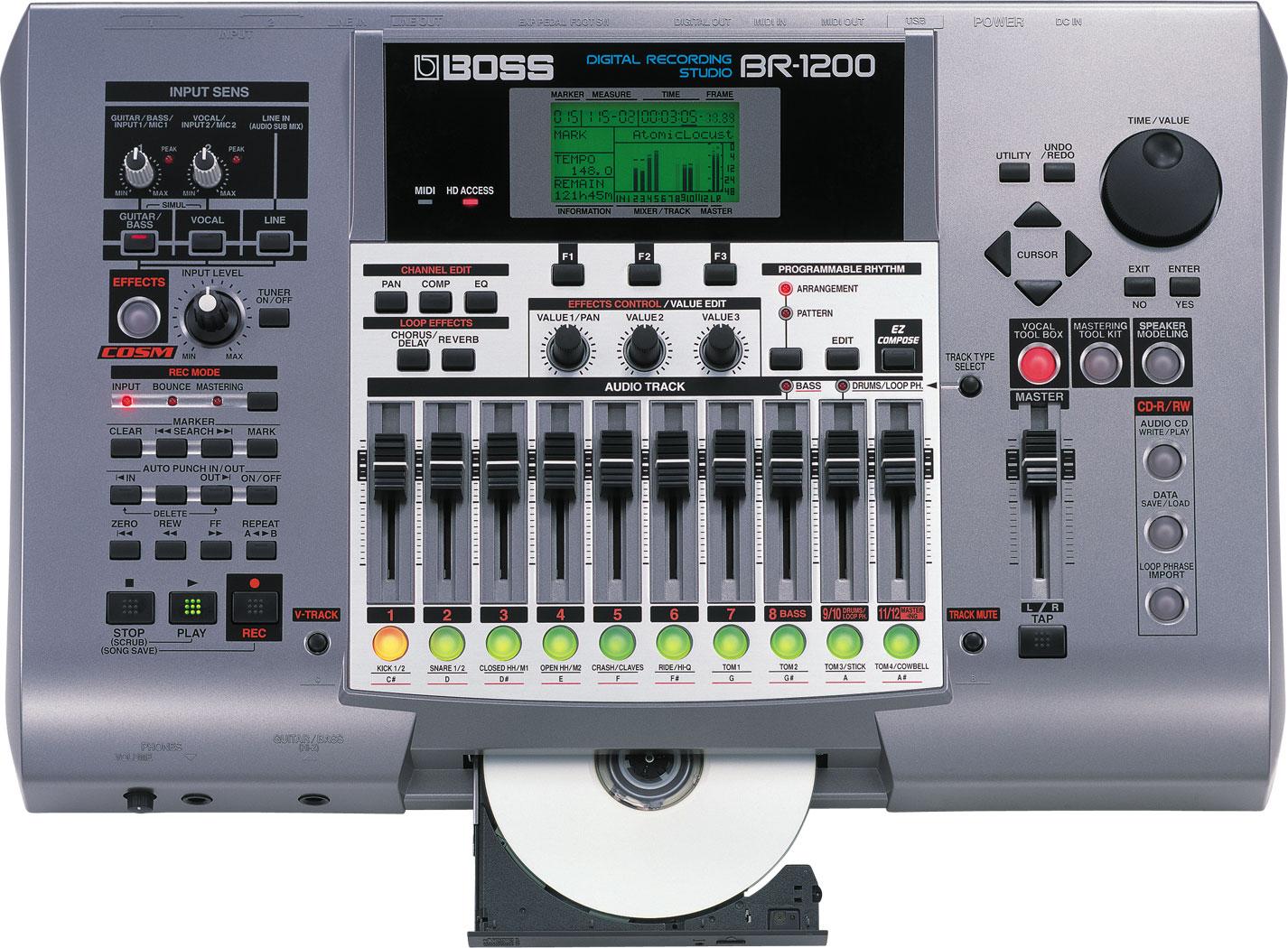 boss br 1200cd digital recorder. Black Bedroom Furniture Sets. Home Design Ideas