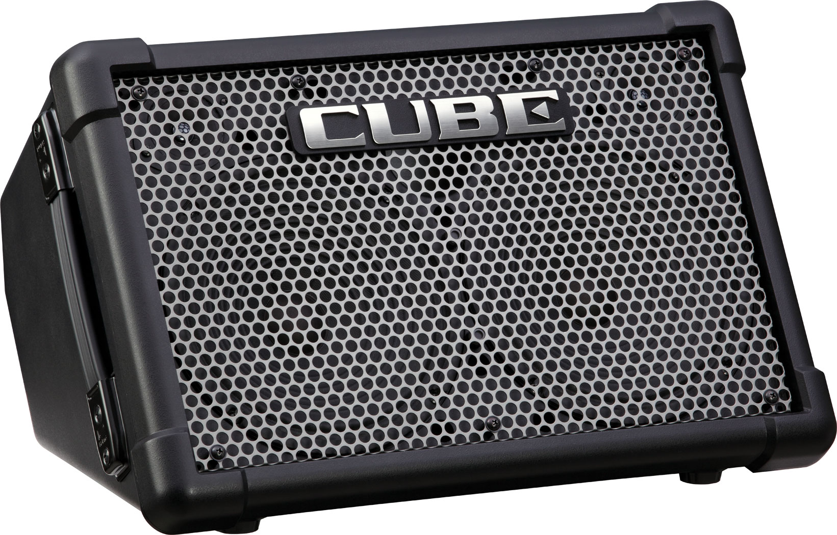 Roland Cube Street Ex Battery Powered Stereo Amplifier Receiver Speakers Mono Sub And Subwoofer