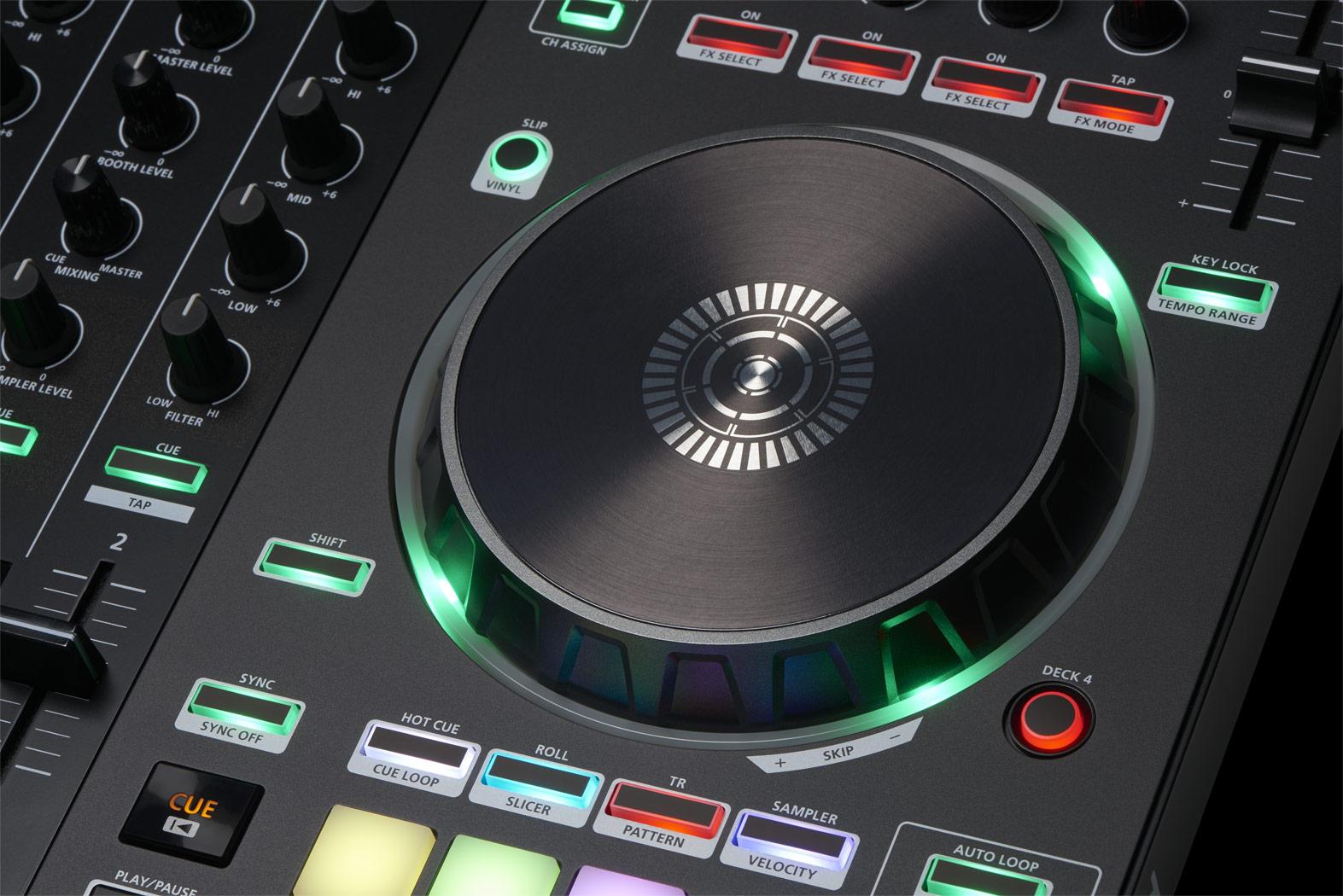 slide de controlador para dj roland dj-505
