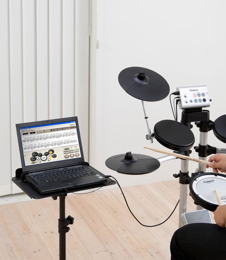 Disc roland hd-1 v-drum lite drum kit + hd1 drum tutor + um-one at.