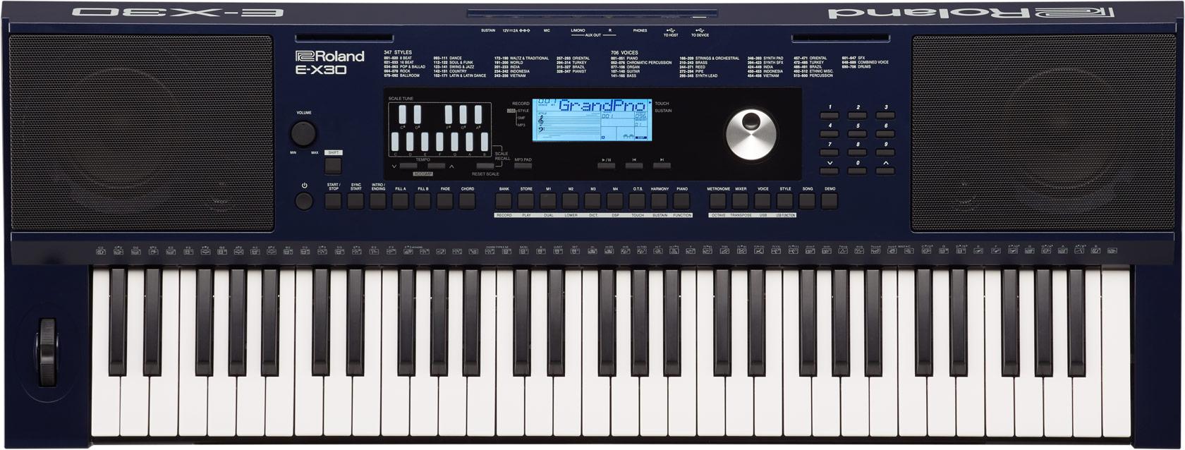 Teclado Roland para iniciantes E-X30