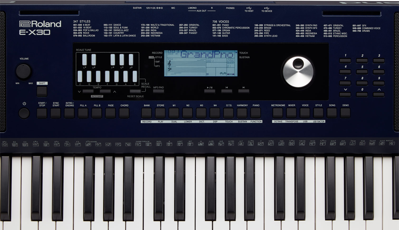 E-X30 | Arranger Keyboard - Roland
