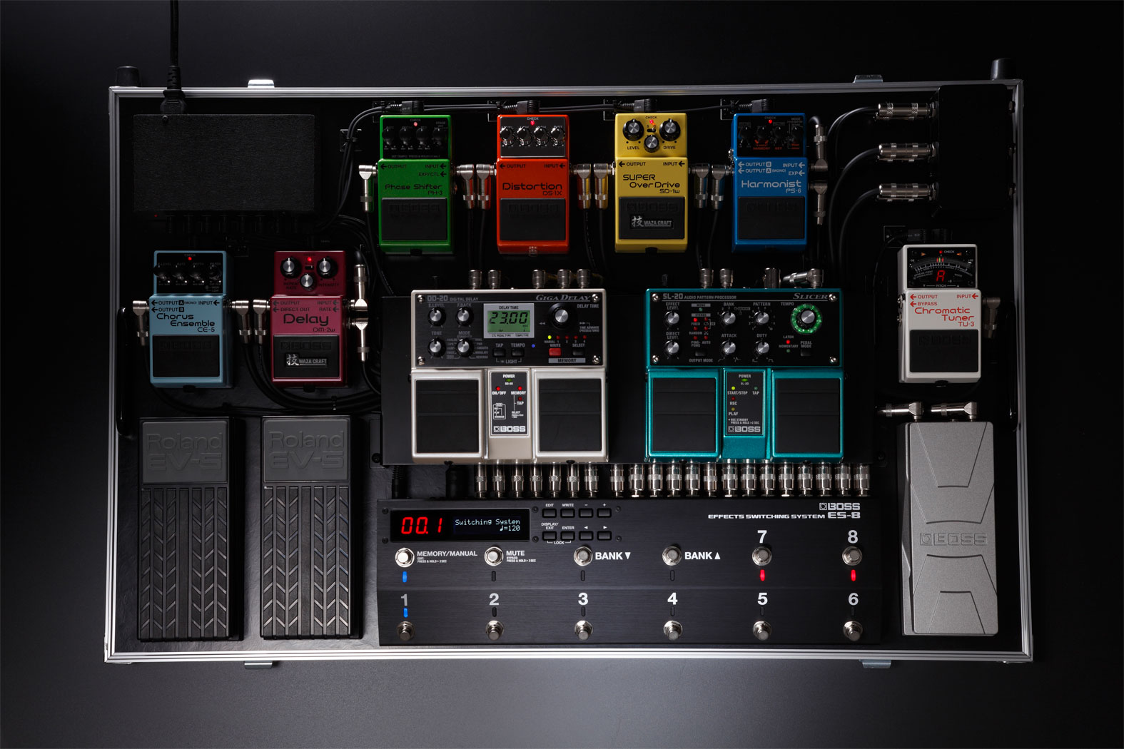 Boss Es 8 Effects Switching System Pedalboard Wiring Diagram