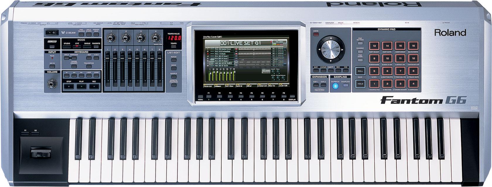 roland fantom g6 workstation keyboard. Black Bedroom Furniture Sets. Home Design Ideas