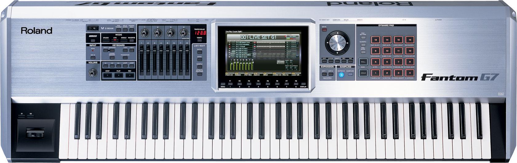 roland fantom g7 workstation keyboard. Black Bedroom Furniture Sets. Home Design Ideas