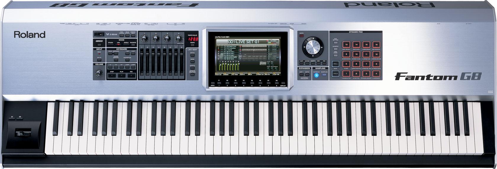 roland fantom g8 workstation keyboard. Black Bedroom Furniture Sets. Home Design Ideas