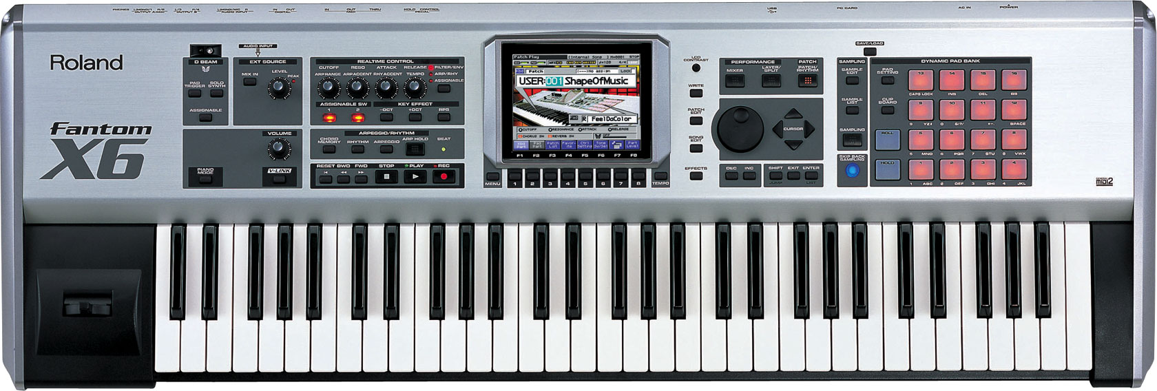 roland fantom x6 workstation keyboard. Black Bedroom Furniture Sets. Home Design Ideas