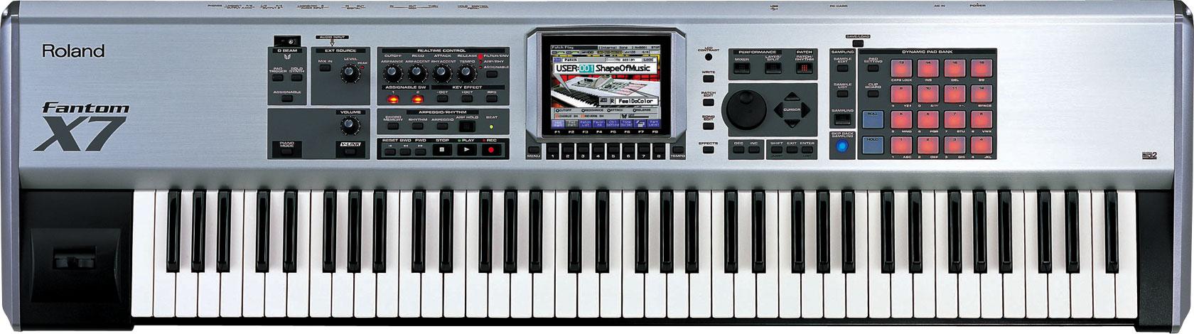 roland fantom x7 workstation keyboard. Black Bedroom Furniture Sets. Home Design Ideas