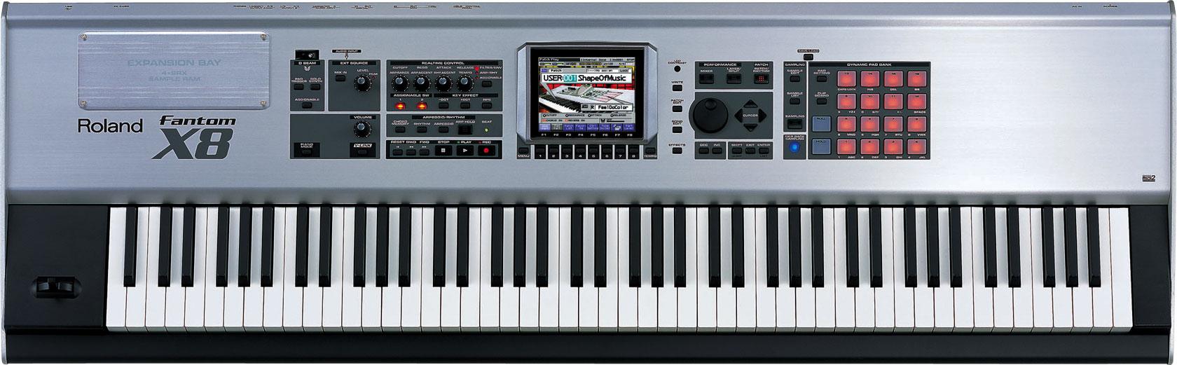 roland fantom x8 workstation keyboard. Black Bedroom Furniture Sets. Home Design Ideas