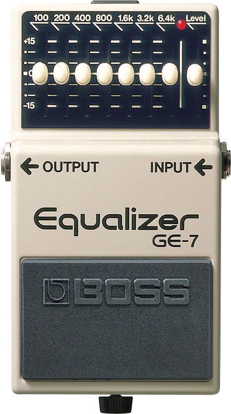 boss ge 7 graphic equalizer rh boss info Boss Pedal List Distortion Pedal