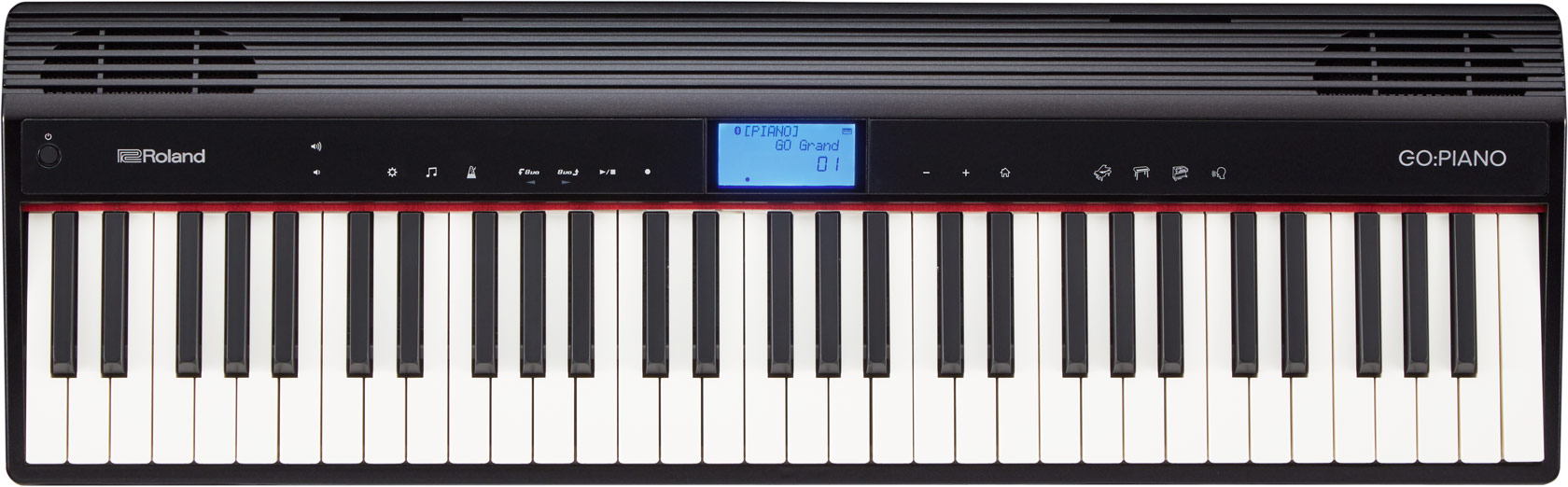 Teclado Roland para iniciantes Go: Piano. Possui 61 teclas