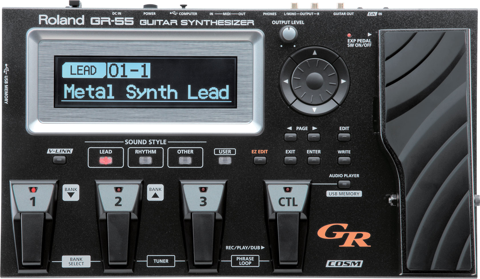 Guitar Synth Pedal >> Gr 55 Guitar Synthesizer Roland
