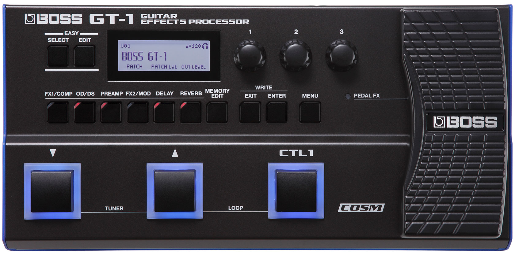 Boss Gt 1 Guitar Effects Processor Inserting A Tone Control Between Preamp And Power Amp