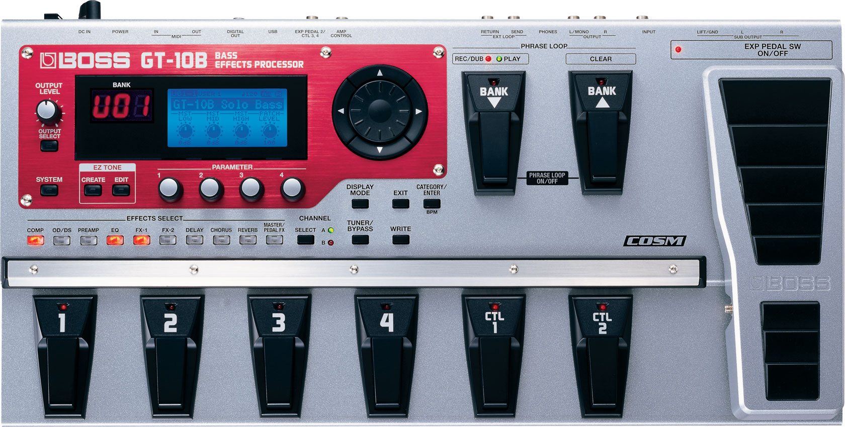 boss gt 10b bass effects processor rh boss info Guitar Processor Boss Me 50 manual de instrucciones pedalera boss me 50