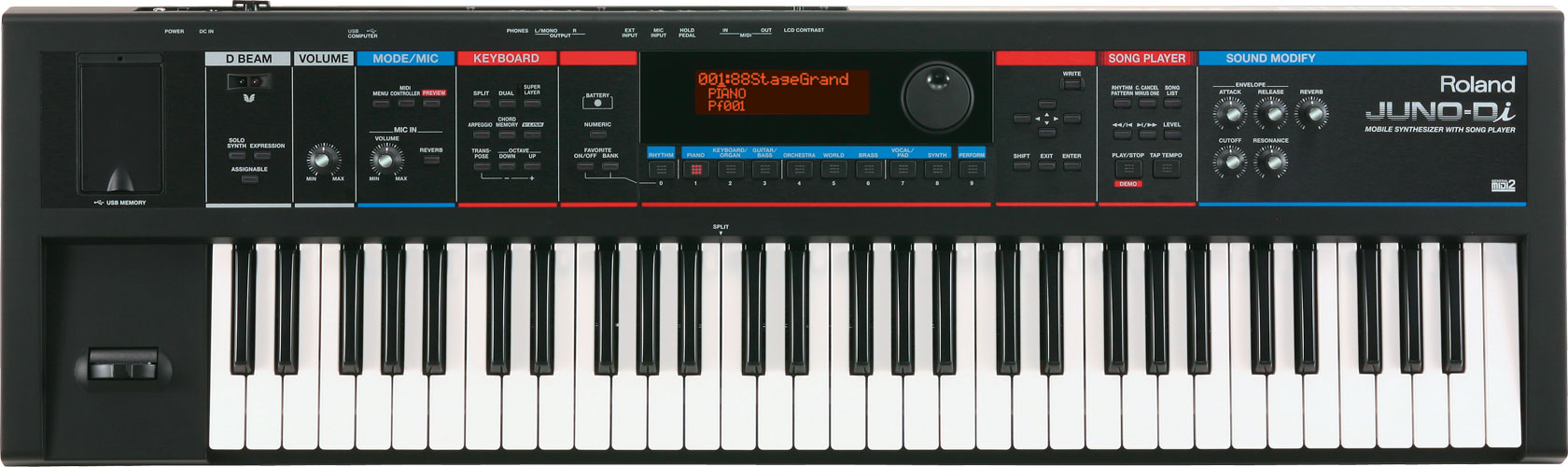 roland juno di mobile synthesizer with song player rh roland com roland juno ds manual list roland juno d service manual