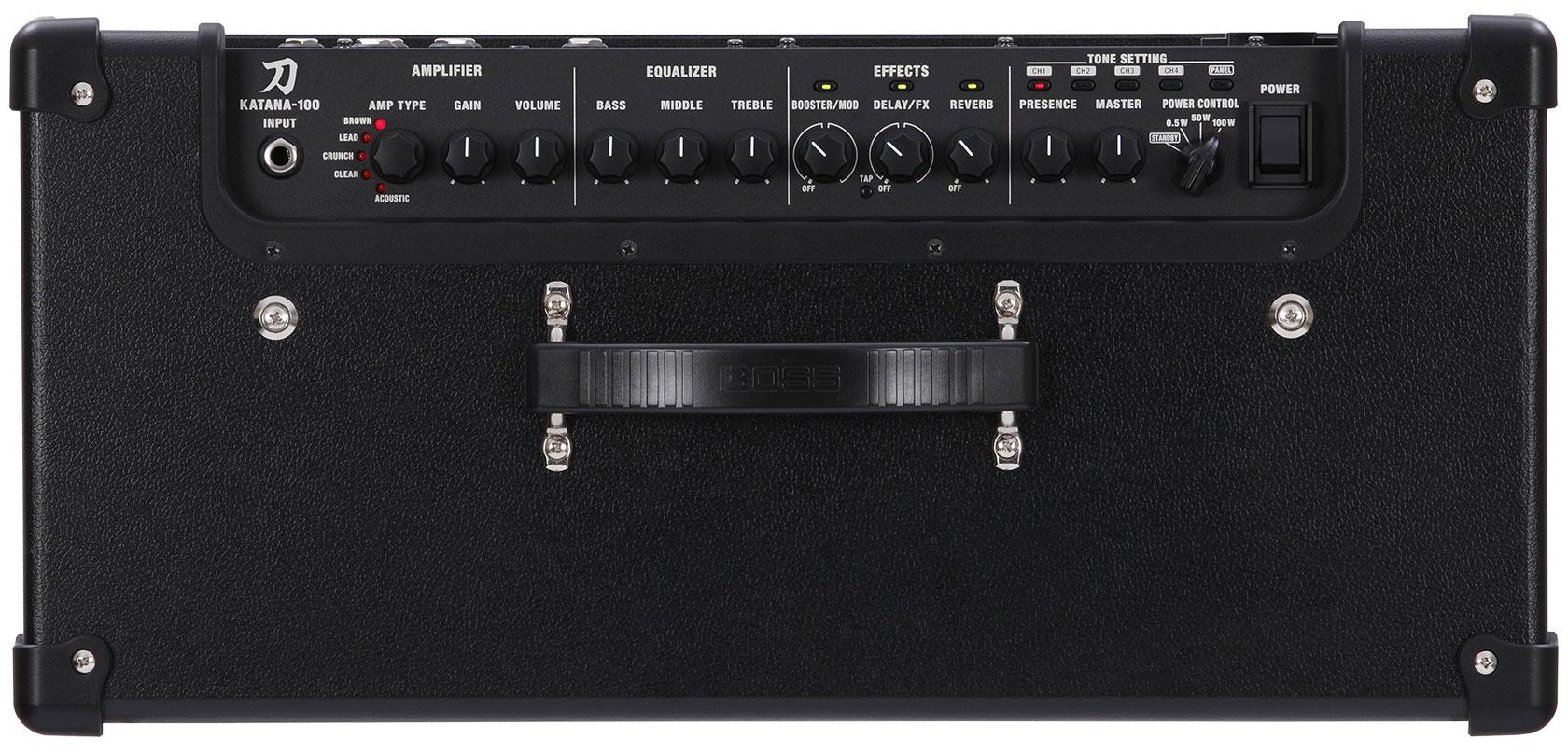 panel de control de amplificador de guitarra BOSS KATANA 100