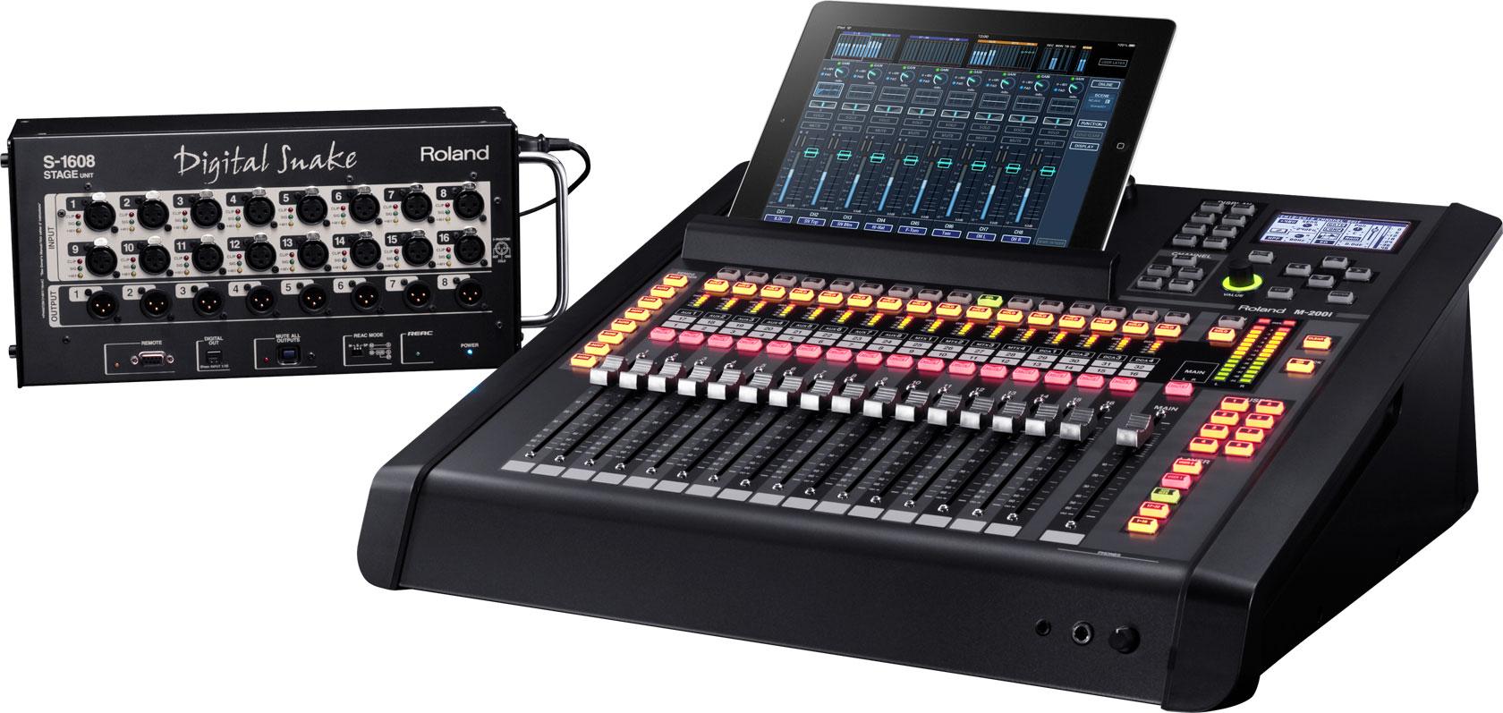 roland pro a v m 200i 32 channel live digital mixing console. Black Bedroom Furniture Sets. Home Design Ideas