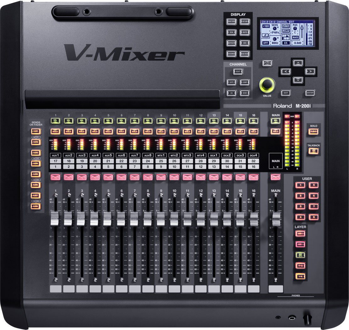 M-200i | 32-Channel Live Digital Mixing     - Roland Pro A/V